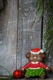 Mono del pan de jengibre de la Navidad fotos de archivo