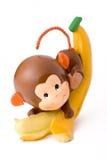 Mono del plátano Fotografía de archivo libre de regalías