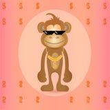Mono elegante lindo ilustración del vector