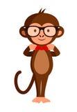 Mono elegante lindo en vidrios del inconformista, Foto de archivo