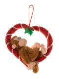 Mono en un corazón Fotografía de archivo libre de regalías
