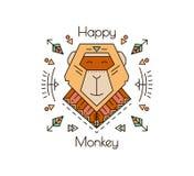 Mono enrrollado para las impresiones Imagenes de archivo