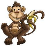 Mono feliz Imagenes de archivo