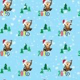 Mono feliz de los modelos 2016 y el árbol Imagenes de archivo