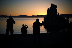 mono fotografera för lake Royaltyfri Foto