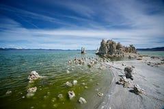 mono halvö för lake Royaltyfri Foto