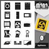 Mono icone - apparecchi 1 Royalty Illustrazione gratis