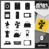 Mono icone - apparecchi 2 Illustrazione Vettoriale