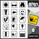 Mono icone - roba 1 di estate royalty illustrazione gratis
