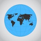 Mono illustrazione blu di vettore di terra fatta Fotografie Stock Libere da Diritti