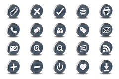 Mono Inset Various Vector Icons Stock Image