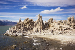 Mono Jeziornego stanu Tufa Naturalna rezerwa w Kalifornia Obrazy Royalty Free