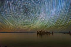 Mono jezioro gwiazdy ślada Zdjęcia Stock