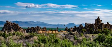 Mono jezioro, Południowy Tufa, Owens dolina, Kalifornia Fotografia Royalty Free