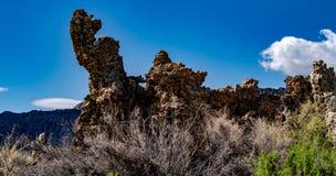 Mono jezioro, Południowy Tufa, Owens dolina, Kalifornia Zdjęcia Royalty Free