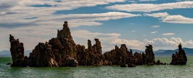 Mono jezioro, Południowy Tufa, Owens dolina, Kalifornia Zdjęcie Royalty Free