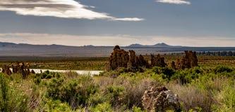 Mono jezioro, Południowy Tufa, Owens dolina, Kalifornia Obraz Royalty Free