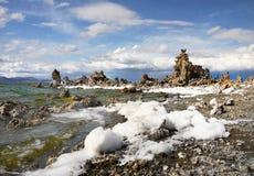 Mono jezioro, Tufa iglicy, Kalifornia Fotografia Stock