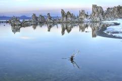 mono Kalifornien lake Arkivbild