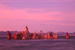 mono Kalifornien lake Arkivbilder