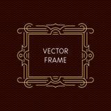 Mono línea marco del vector con el espacio de la copia Stock de ilustración