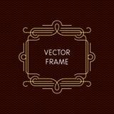 Mono línea marco del vector con el espacio de la copia Fotografía de archivo libre de regalías