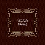 Mono línea marco del vector con el espacio de la copia Imagenes de archivo