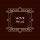 Mono línea marco del vector con el espacio de la copia Imagen de archivo