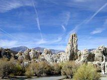 Mono lago e sierra Nevada Immagini Stock Libere da Diritti