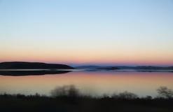 Mono lago en la oscuridad Fotografía de archivo libre de regalías