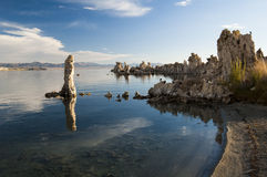 Mono Lake. Tufa formations on Mono Lake in the Owens Valley of California Royalty Free Stock Photo