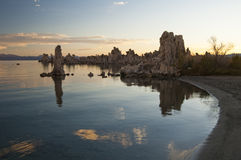 Mono Lake. Tufa formations on Mono Lake in the Owens Valley of California Royalty Free Stock Photos