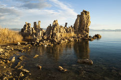 Mono Lake. Tufa formations on Mono Lake in the Owens Valley of California Stock Photo