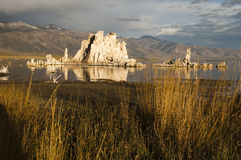 Mono Lake. Tufa formations on Mono Lake in the Owens Valley of California Royalty Free Stock Image