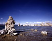 MONO LAKE. Tufa towers, calcium-carbonate spires and knobs formed by interaction of freshwater springs and alkaline lake water Stock Photography