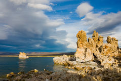 Mono Lake. At sunset in California Royalty Free Stock Photos