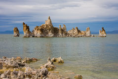 Mono Lake. On cloudy day in California Stock Photography