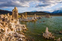 Mono Lake. At sunset in California Stock Photos