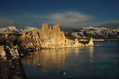 Mono Lake. During sunrise in winter Stock Images
