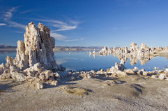 Mono Lake. View of tufa formations at Mono Lake in eastern California stock photo
