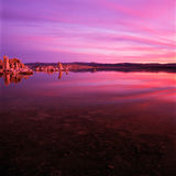 Mono Lake. Beautiful Mono Lake at sunrise Royalty Free Stock Images