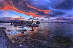Mono Lake. Is a majestic body of water covering about 65 square miles. It is an ancient lake, over 1 million years old -- one of the oldest lakes in North Royalty Free Stock Images