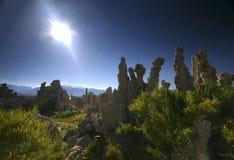 Mono Lake. Limestone pillars called Tufa in Mono Lake, California Stock Image