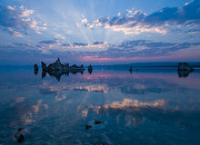 Mono Lake. Exposed tufa towers of Mono Lake, California Stock Image