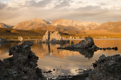 Mono Lake. Tufa formations on Mono Lake in the Owens Valley of California Stock Image