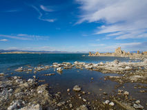 Mono Lake. California. Tufa and water Stock Image