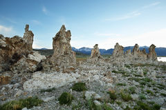 Mono Lake in California, USA. Tufa towers in Mono Lake at sunset, California, USA Stock Photography