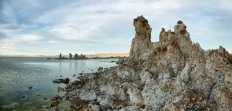 Mono Lake in California, USA. Tufa towers in Mono Lake at sunset, California, USA Royalty Free Stock Photos