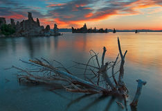 Mono Lake California. Mono Lake is a lake with very high salt content in California Stock Photos