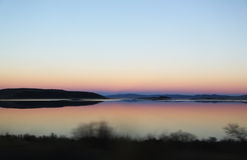 Mono Lake at Dusk. Found along the 395 highway in California, United States Royalty Free Stock Photography